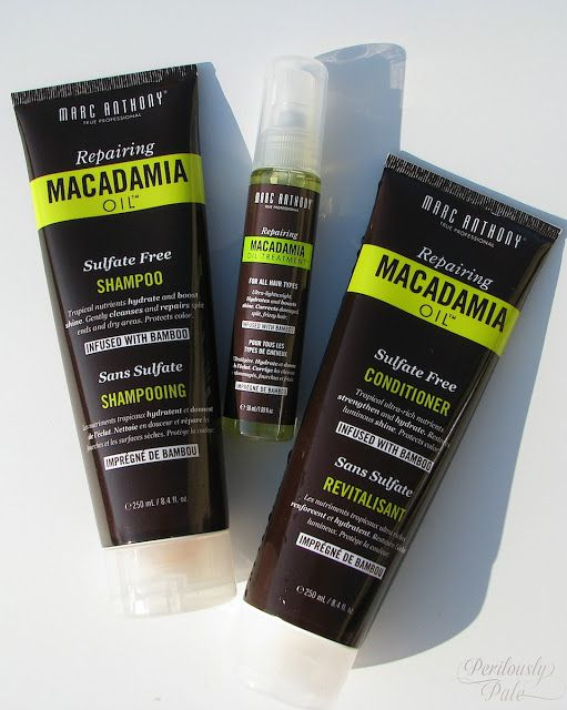 Marc Anthony Repairing Macadamia Oil Shampoo, Conditioner, and Treatment Review |Perilously Pale