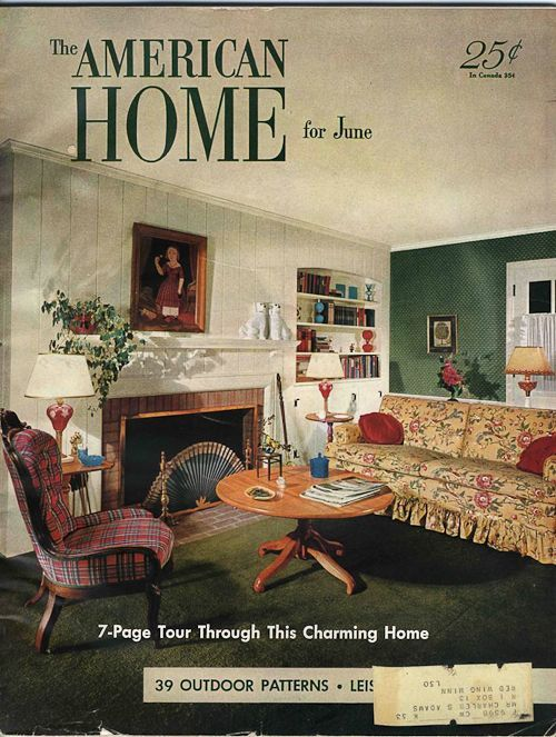 1950s interior design and decorating style 7 major American home decor catalog