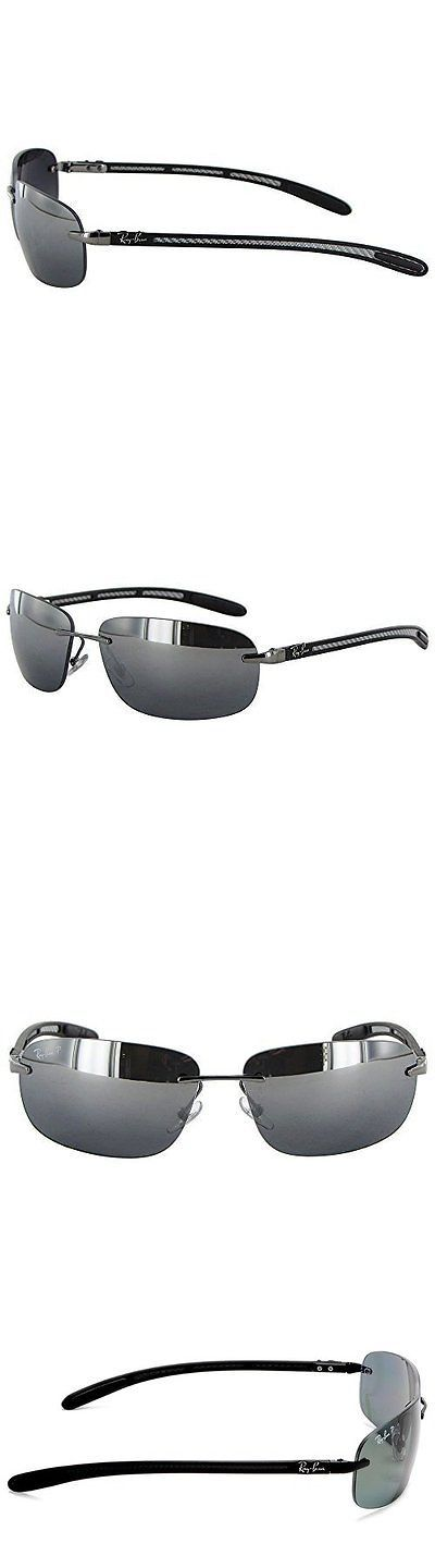 Other Womens Accessories 1063: Rayban Tech Carbon Fiber Polarized Sunglasses - Silver Gray - (Rb 8303) -> BUY IT NOW ONLY: $90.09 on eBay!