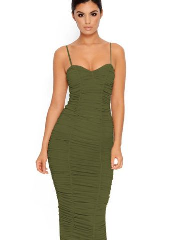 b49f72733 Hualong Sexy Club Strap Fitted Wrinkled Dress  fashion  style  love   shopping  women  womensfashion  top  club  party  usa  uk  forsale  street   onlinestore ...