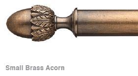 Small Brass Acorn Finial
