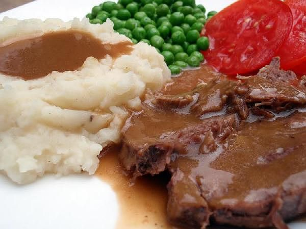 You can make this same roast beef recipe in either the crockpot or a pressure cooker and either way it will be fork tender and delicious!