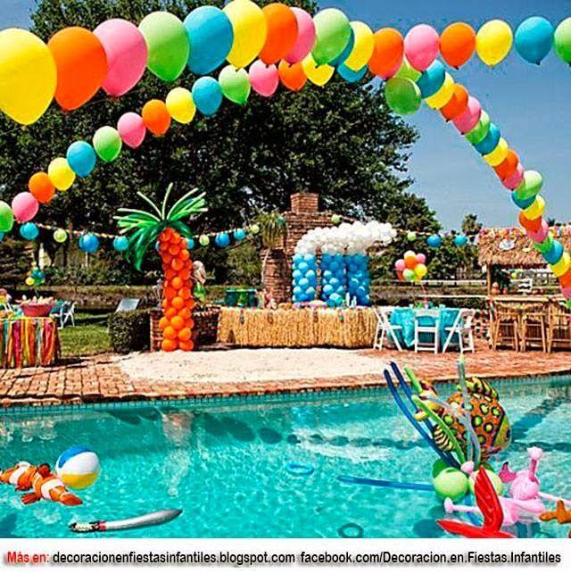 Ideas para fiestas infantiles 13 ideas para realizar una for Ideas para cumpleanos en piscina