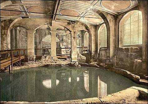 Ancient Roman bath house.  The builder of this famous bath house was Marcus Ulpius Nerva Traianus (September 18, 53 - August 9, 117), Roman Emperor (98-117), commonly called Trajan.