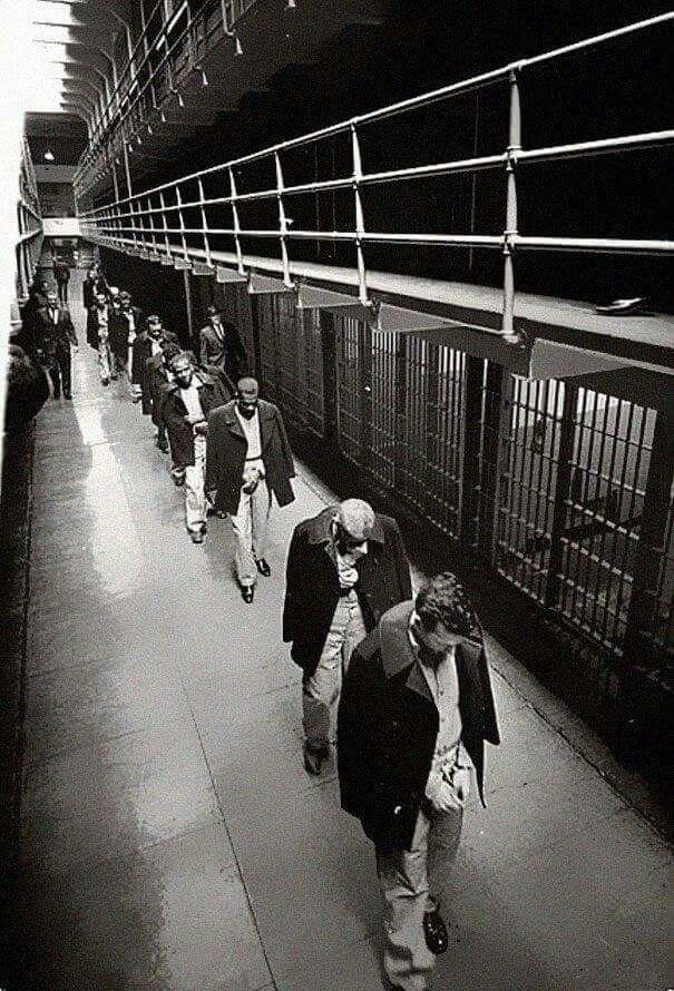 Ultimos pricioneros abandonados en ls islas de alcatraz 1963