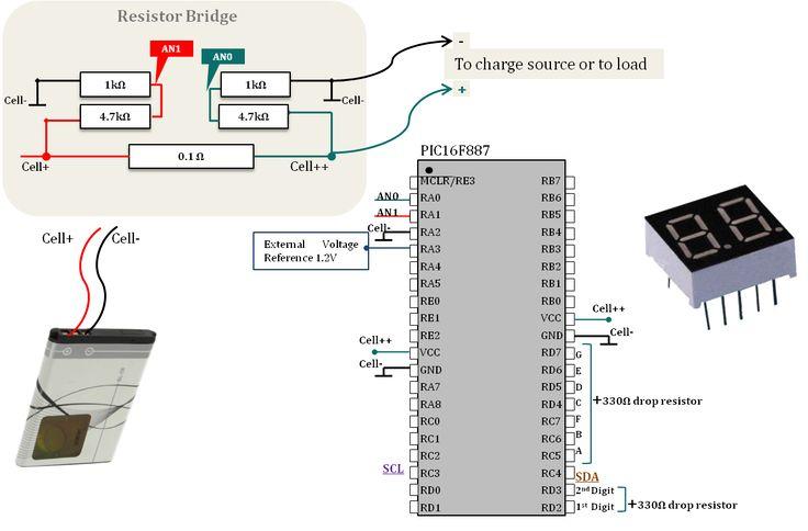 Battery SOC Determination For PIC16F877 - Yaslamen #microchip #yaslamen #PIC16F887