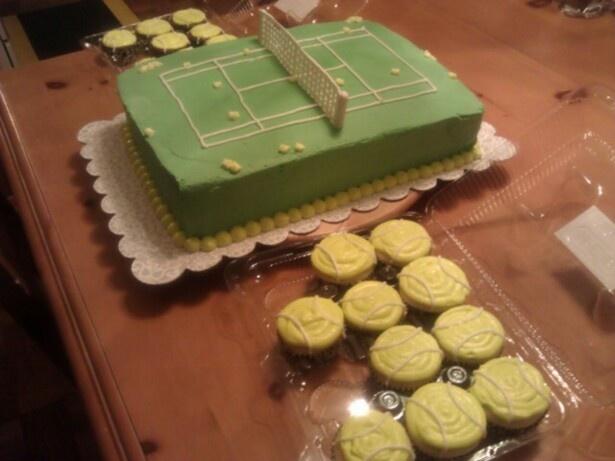 Tennis court and tennis ball cupcakes for the Atascocita High School Tennis Team