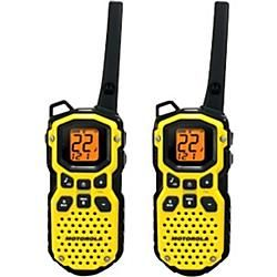 Motorola's Talkabout(R) MS350R is by no means a fair weather radio. On the contrary, it is a high performance, ultra durable waterproof radio that's right for the extreme outdoors. With a... More Details
