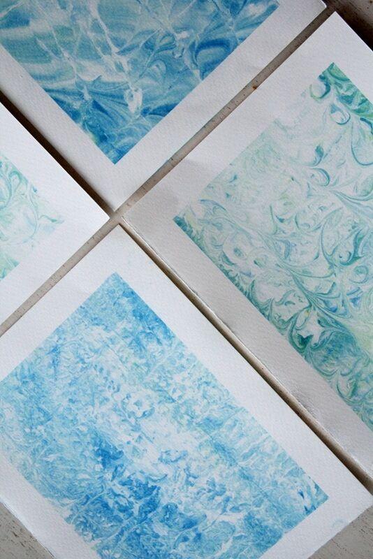{DIY: } Papier marmorieren mit Rasierschaum - Handmade Kultur