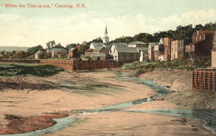 Low tide at Canning, Nova Scotia,  postmarked August 1910