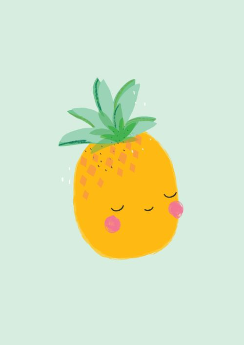 This is Gold - Aless Baylis for Menudos Cuadros   #pineapple #spring #illustration #menudoscuadros