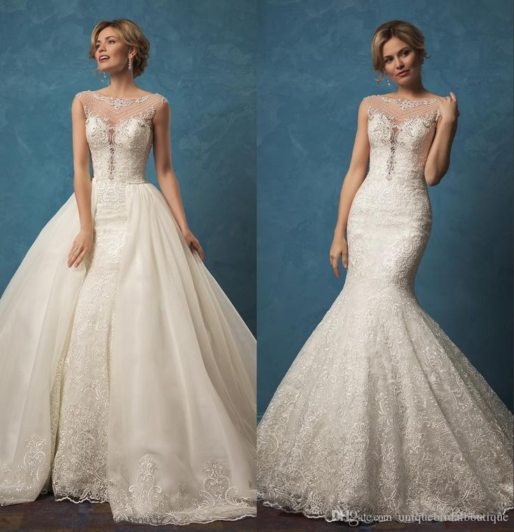 1492 best wedding dresses images on pinterest amelia sposa 2017 wedding dresses detachable skirt with illusion neck and and junglespirit Gallery