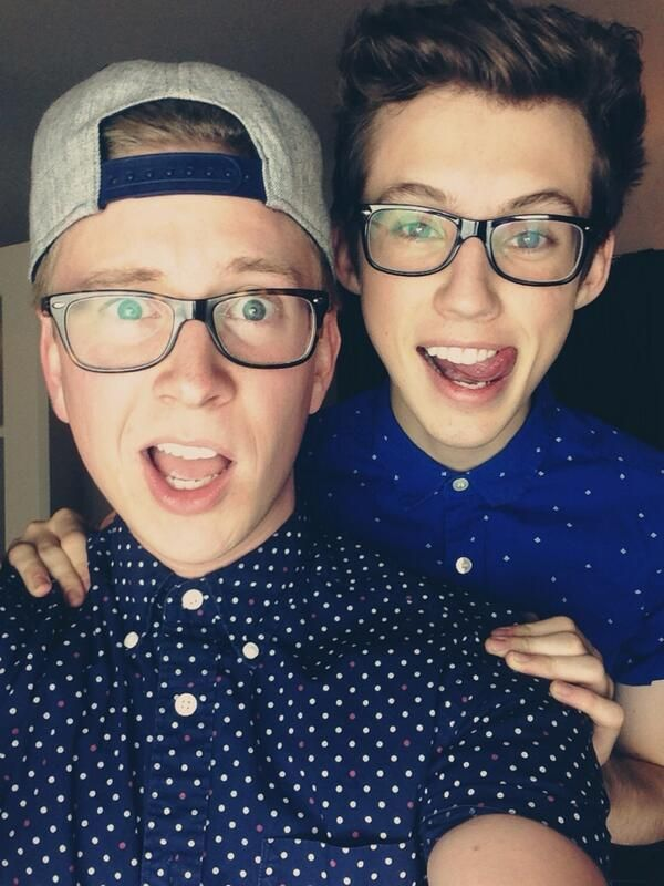 Tyler Oakley and Troye Sivan taking a selfie during their livestream for Tyler's fundraiser for The Trevor Project. #troyler