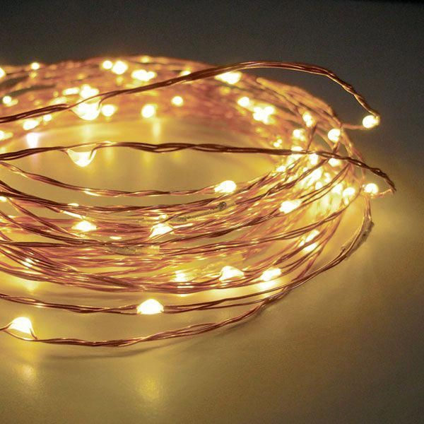 Check out the deal on 60 Warm White LED String Lights Battery Operated - 20  Feet with Timer at Battery Operated Candles #christmaslightsinthebedroom - Check Out The Deal On 60 Warm White LED String Lights Battery