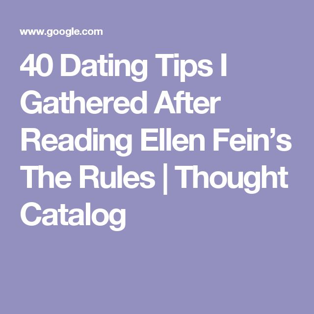Five Rules For Dating After 40