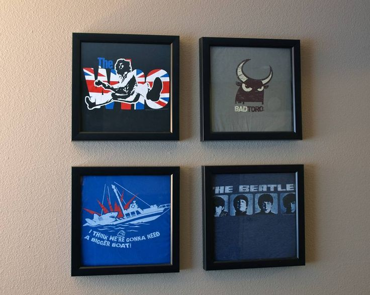 Really simple DIY to create artwork from old t shirts!  great Christmas gift for a guy!  lilbit.michelevenlee.com