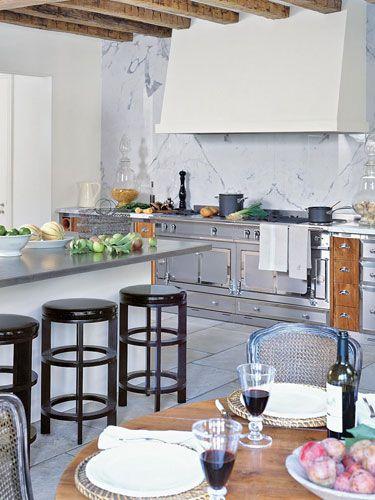 New Home Interior Design: Paris Meets Pebble Beach...: Stove, Kitchens, The Cornue, Interiors, Hoods, Marbles, Kitchen Ideas