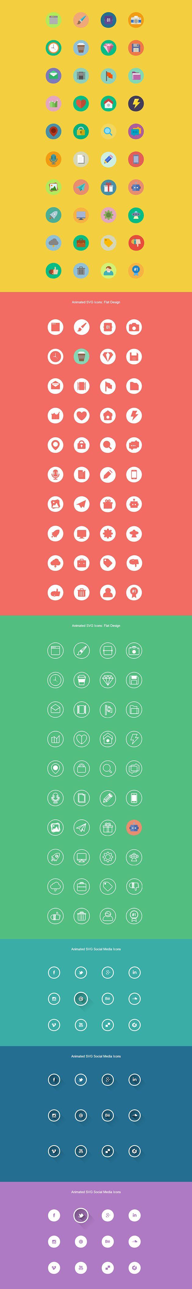 Создаем анимированные иконки с помощью SVG. Главные тенденции в веб-дизайне 2014 года