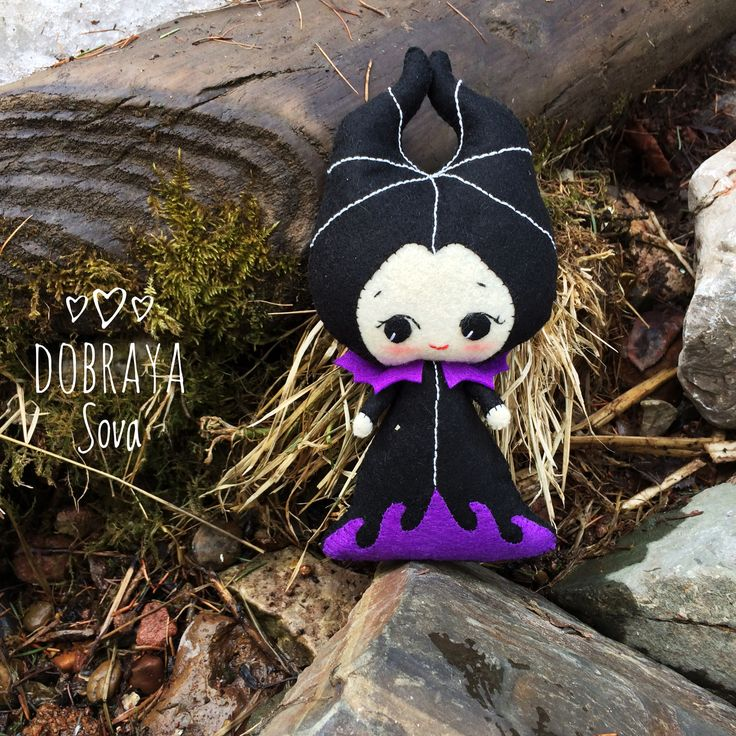 Maleficenta boy made of felt sewed by me based on Noia Land