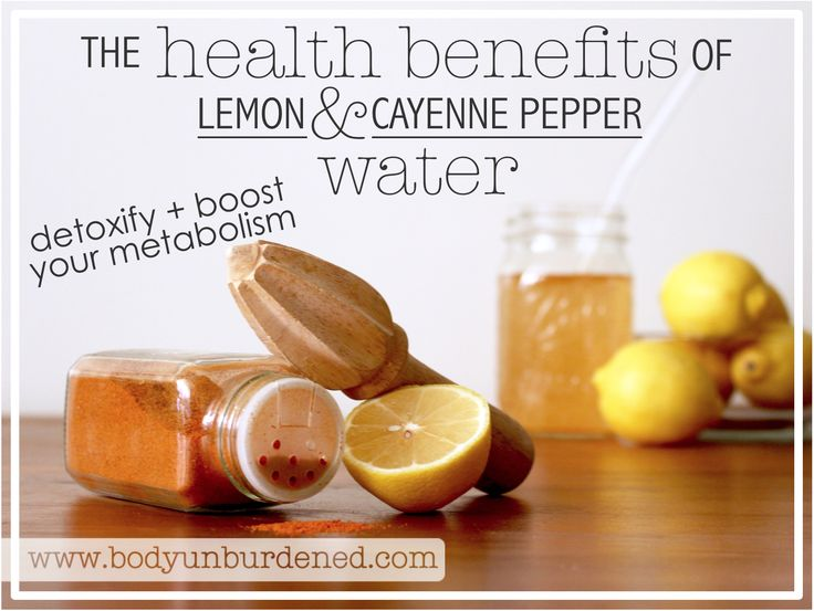 Lemon and cayenne pepper are one powerhouse duo with serious health benefits. They're both great at giving the body's detoxification systems, digestion, and metabolism a helping hand. The vitamin C in lemon transforms toxins into digestible material. Lemons are also packed with antioxidants and electrolytes like potassium, calcium, and magnesium. This tart fruit is also known to stimulate the liver's …