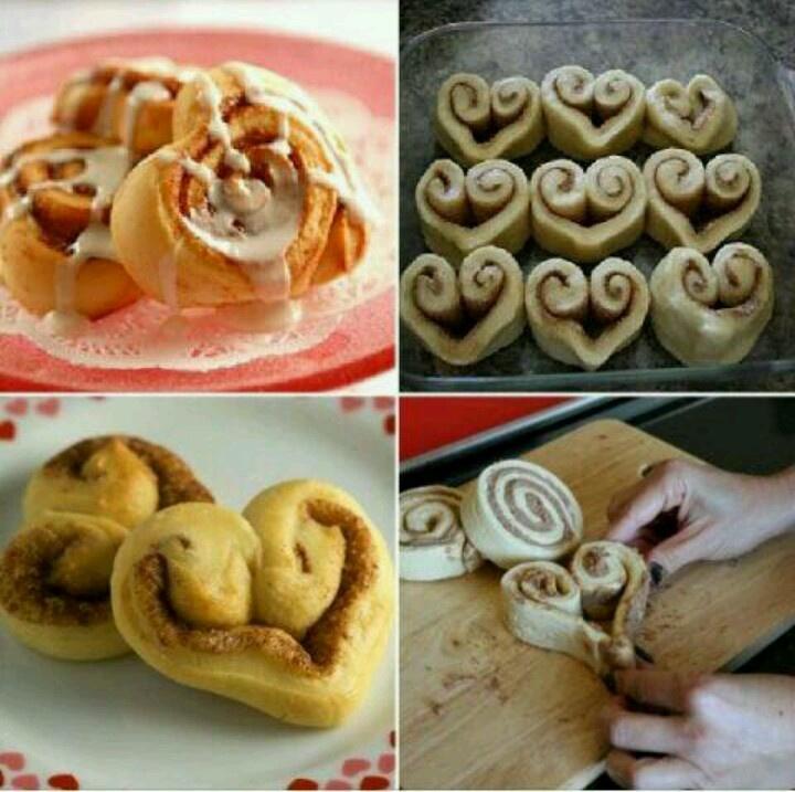 Cinammon roll hearts