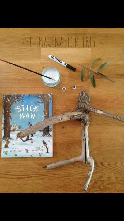 Stick Man made with nature materials- Based on a book- Good Story prop