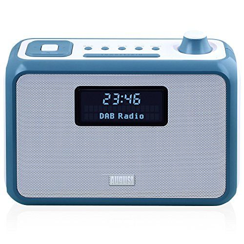 Cheap DAB  Clock Radio Bluetooth Speaker - August MB400 - Wake to your Favourite DAB FM or MP3 Music and Bring it with You - Portable Powered by C Cells (not included) Best Selling