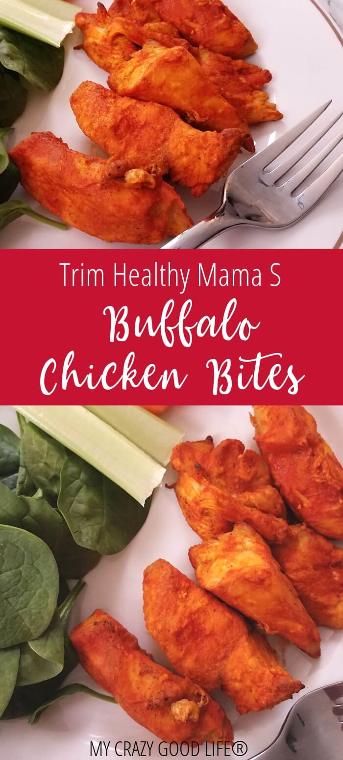 Trim Healthy Mama buffalo chicken bites make a great snack