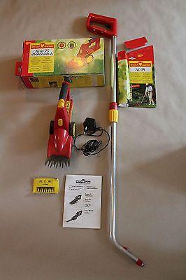Akku Grasschere Rasenschere Rasentrimmer Accu 75 Set Teleskopstiel Wolf-Gartensparen25.com , sparen25.de , sparen25.info