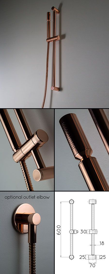 <span style='color: #000000;'>Copper Slide Rail Shower Head (35HH)</span>
