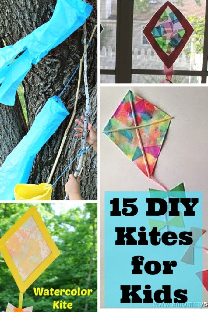 It's craft time for your children! Here are 15 DIY Kites for Kids. Perfect to make all year 'round.