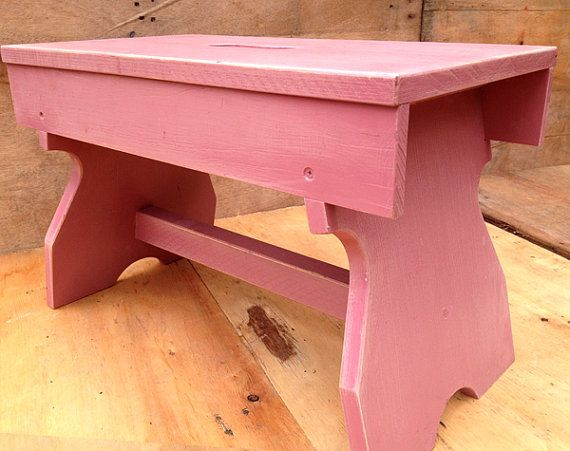 rustic pink childrens furniture use as a bench by RosesUpcycled, $30.00. buy online at www.etsy.com/shop/rosesupcycled. Local pick up from East Malvern.