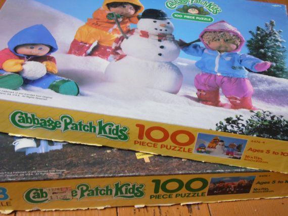 Kids Puzzles Cabbage Patch Kids Puzzle 80s Toys Vintage
