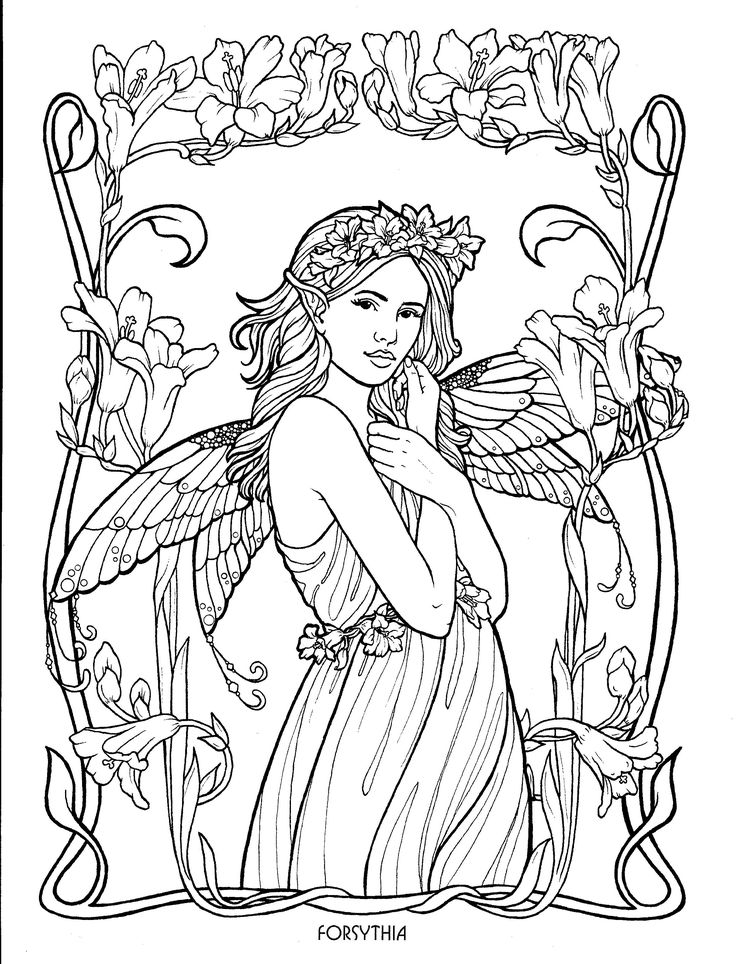 Fairy 27 Coloring PagesAdult