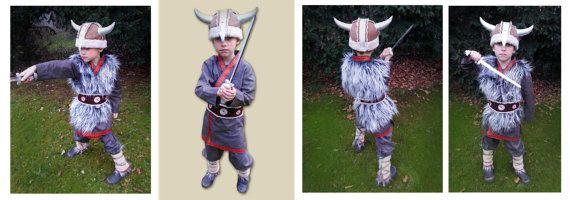 Viking kostuum 4-8 jaar Wicky LARP stenen tijdperk door maiiberlin