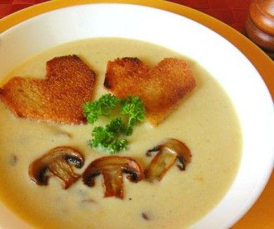 Potato soup with mushrooms (Картофельный суп-пюре с грибами)