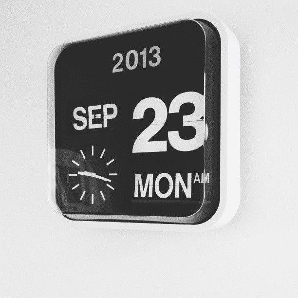 Via Seventy Tree   Karlsson Flip Clock   Black and White