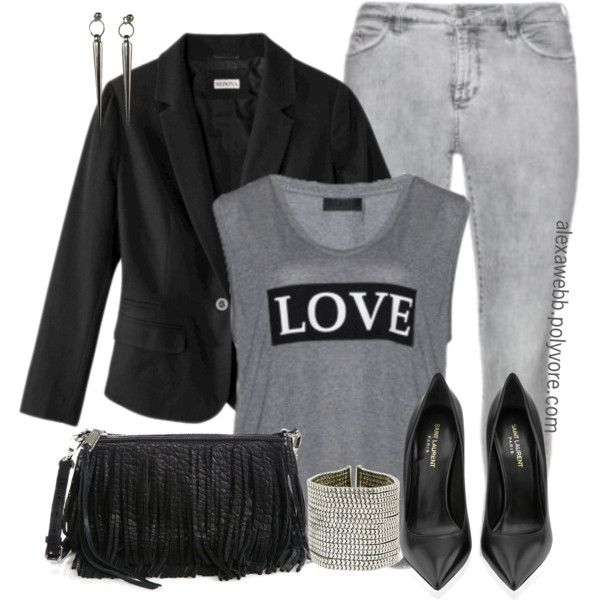Plus Size - #LOVE, created by alexawebb on Polyvore I would add a black leather jacket instead