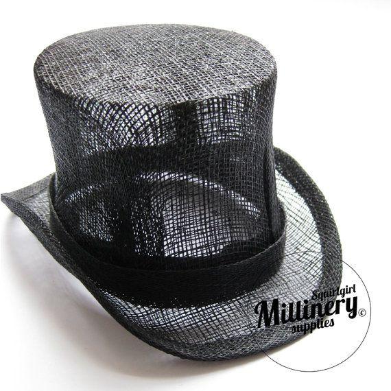 Black Sinamay Miniature Mini Top Hat Fascinator Base by squirlgirl, $18.00