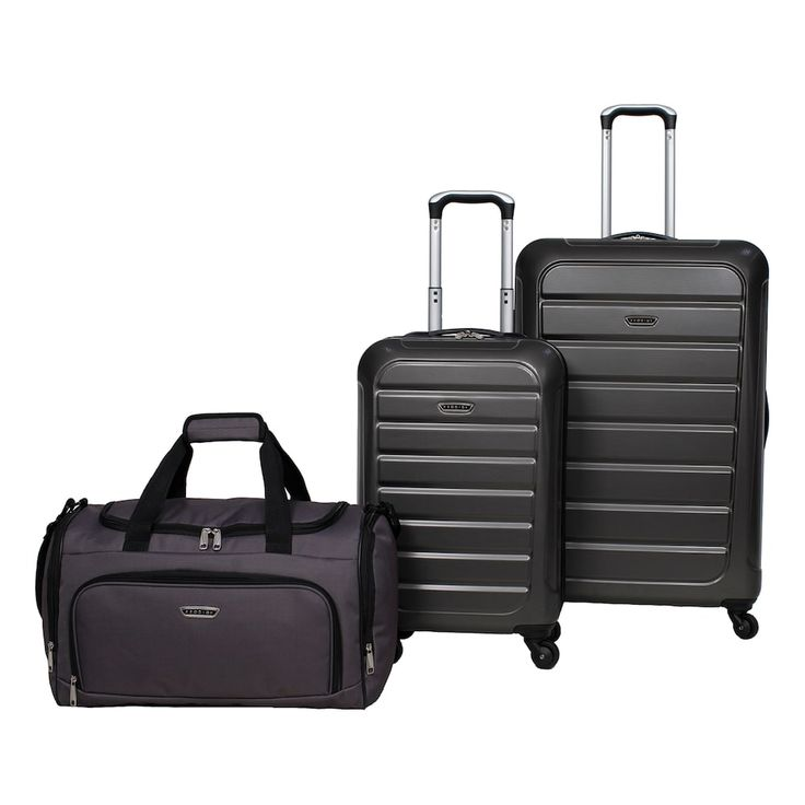 Prodigy Optics 3-Piece Hardside Spinner Luggage Set, Grey