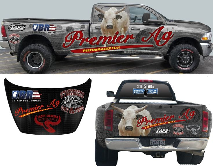 Here is a Truck Wrap we just finished for Scott Silveira's Bucking Bulls!!