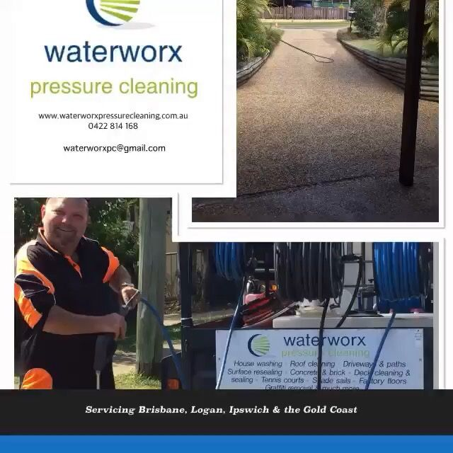 A fer before and after shots by the guys at Waterworx Pressure Cleaning. Concrete sealing, Concrete cleaning, Timber deck cleaning, Timber deck oiling,
