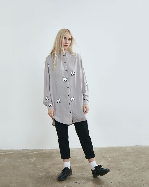 Lazy Oaf Eyes All Over Shirt - Everything - Categories - Womens