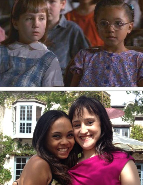 Matilda stars, Mara Wilson and Kiami Davael. Then & Now