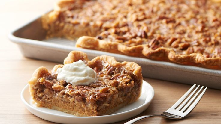 Pumpkin-Pecan Slab Pie