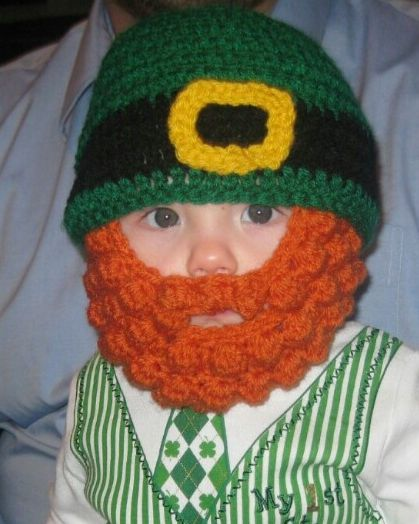 Crochet beard and hat #crochet