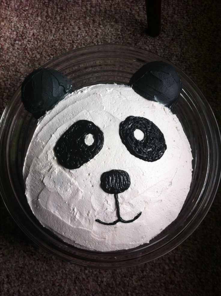 The panda cake I made for Anna's 3rd birthday!