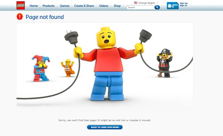 404 page from Lego › PatternTap