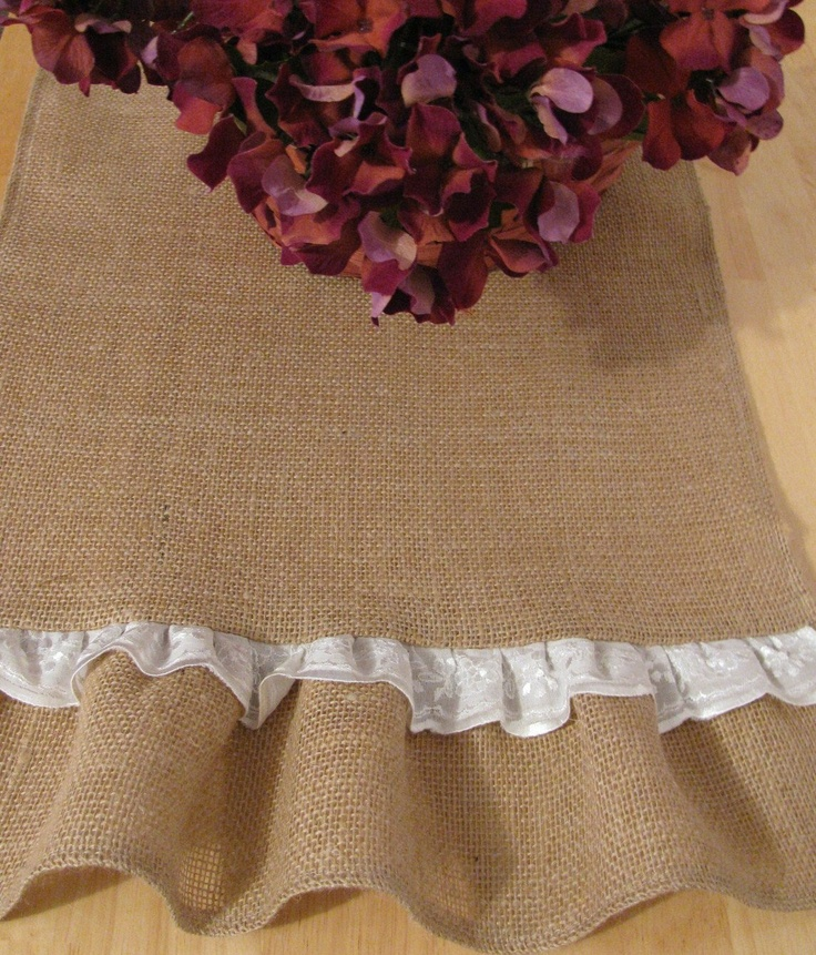 Burlap Table Runner 15 X 72 Natural Jute. $34.00, via Etsy.