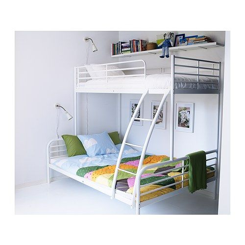 TROMSÖ Bunk bed frame IKEA A good solution where space is limited.